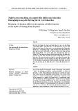 Nghiên cứu rung động của người điều khiển máy khai thác lâm nghiệp trong chế độ tăng tốc từ vị trí khai thác
