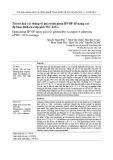 Tối ưu hóa các thông số quá trình phun HVOF để nâng cao độ bám dính của lớp phủ WC-12Co