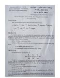 Đề thi vào lớp 10 chuyên Hóa học năm 2020-2021 có đáp án - Trường Phổ thông Năng khiếu ĐHQG TP.HCM