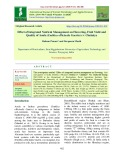 Effect of integrated nutrient management on flowering, fruit yield and quality of aonla (Emblica officinalis Gaertn) cv. Chakaiya