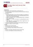 Bài giảng Hệ thống thông tin kế toán - Bài 3: Hệ thống thông tin kế toán chu trình mua hàng