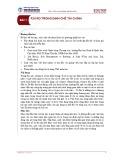 Bài giảng Quản trị rủi ro - Bài 1: Rủi ro trong định chế tài chính