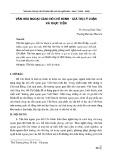 Văn hóa ngoại giao Hồ Chí Minh - giá trị lý luận và thực tiễn