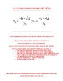 Bài tập tổng hợp phương trình bậc hai