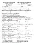 Đề thi học kì 2 môn Vật lý lớp 12 năm 2019-2020 có đáp án - THPT Huỳnh Ngọc Huệ
