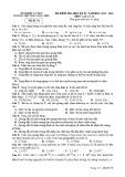 Đề thi học kì 2 môn Vật lý lớp 12 năm 2019-2020 - THPT Phan Ngọc Hiển