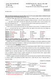 Đề thi học kì 2 môn Tiếng Anh lớp 12 năm 2019-2020 có đáp án - THPT Nguyễn Huệ