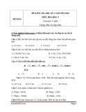 Đề thi học kì 2 môn Hóa học lớp 9 năm 2019-2020 – Trường THCS Lê Quý Đôn