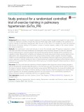 Study protocol for a randomised controlled trial of exercise training in pulmonary hypertension (ExTra_PH)