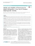 Validity and reliability of fluoroscopy for digital radiography: A new way to evaluate diaphragmatic mobility