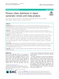 Primary ciliary dyskinesia in Japan: Systematic review and meta-analysis