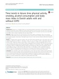Time trends in leisure time physical activity, smoking, alcohol consumption and body mass index in Danish adults with and without COPD