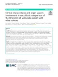 Clinical characteristics and organ system involvement in sarcoidosis: Comparison of the University of Minnesota Cohort with other cohorts