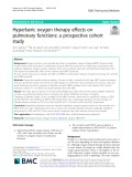 Hyperbaric oxygen therapy effects on pulmonary functions: A prospective cohort study