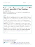 Patterns of pleural pressure amplitude and respiratory rate changes during therapeutic thoracentesis