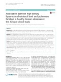 Association between high-density lipoprotein cholesterol level and pulmonary function in healthy Korean adolescents: The JS high school study