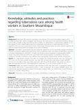 Knowledge, attitudes and practices regarding tuberculosis care among health workers in Southern Mozambique