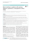 Risk of asthma in patients with primary Sjögren's syndrome: A retrospective cohort study