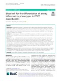 Blood cell for the differentiation of airway inflammatory phenotypes in COPD exacerbations
