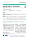 Treatment outcomes of tuberculous meningitis in adults: A systematic review and meta-analysis