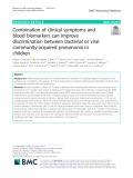 Combination of clinical symptoms and blood biomarkers can improve discrimination between bacterial or viral community-acquired pneumonia in children