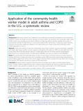 Application of the community health worker model in adult asthma and COPD in the U.S.: A systematic review