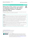 Relationship of flow-volume curve pattern on pulmonary function test with clinical and radiological features in idiopathic pulmonary fibrosis