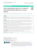 Serum prednisolone levels as a marker of oral corticosteroid adherence in severe asthma