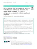In-hospital mortality trends among patients with idiopathic pulmonary fibrosis in the United States between 2013-2017: A comparison of academic and non-academic programs