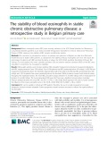 The stability of blood eosinophils in stable chronic obstructive pulmonary disease: A retrospective study in Belgian primary care