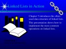 Lecture Data structures and other objects using C++ - Chapter 5: Linked lists in action