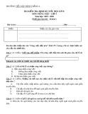 Đề thi học kì 2 môn Tiếng Việt lớp 5 năm 2019-2020 có đáp án - Trường Tiểu học Bình Thắng A