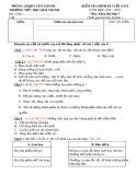 Đề thi học kì 2 môn Khoa học lớp 5 năm 2019-2020 có đáp án - Trường Tiểu học Kim Thành