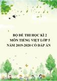 Bộ đề thi học kì 2 môn Tiếng Việt lớp 5 năm 2019-2020 có đáp án