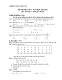 Đề thi học kì 2 môn Toán lớp 7 năm 2019-2020 có đáp án - Trường THCS Nghĩa Tân
