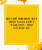 Bộ 6 đề thi học kì 2 môn Toán lớp 9 năm 2019-2020 có đáp án