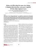 Khảo sát điều kiện lên men của chủng vi khuẩn biển Bacillus velezensis AlgSm1 để thu nhận alginate lyase