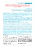 Nghiên cứu ảnh hưởng của một số loại phụ gia đến cường độ kháng nén một trục đất bồi lắng lòng hồ chứa ở Hà Tĩnh