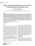 Phân lập và đánh giá khả năng phân hủy lá mía của các dòng vi khuẩn trong đất phèn trồng mía ở Đồng bằng sông Cửu Long
