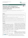 Pulmonary artery enlargement in schistosomiasis associated pulmonary arterial hypertension