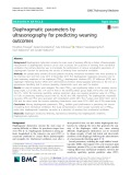 Diaphragmatic parameters by ultrasonography for predicting weaning outcomes