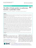 The effect of body position on pulmonary function: A systematic review