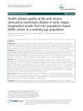Health-related quality of life and chronic obstructive pulmonary disease in early stages – longitudinal results from the population-based KORA cohort in a working age population