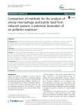Comparison of methods for the analysis of airway macrophage particulate load from induced sputum, a potential biomarker of air pollution exposure