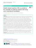 Health-related quality of life as predictor for mortality in patients treated with longterm mechanical ventilation