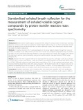 Standardised exhaled breath collection for the measurement of exhaled volatile organic compounds by proton transfer reaction mass spectrometry