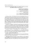 Khảo sát thành phần hóa học của tinh dầu thân và lá loài tía tô đất (Melissa Officinalis L.)