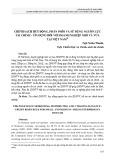 Chính sách huy động, phân phối và sử dụng nguồn lực tài chính   tín dụng đối với doanh nghiệp nhỏ và vừa tại Việt Nam