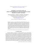 Numerical investigation of force transmission in granular media using discrete element method