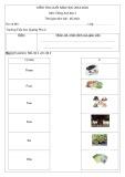 Đề thi học kì 2 môn Tiếng Anh lớp 1 năm 2019-2020 - Trường Tiểu học Quảng Phú 2